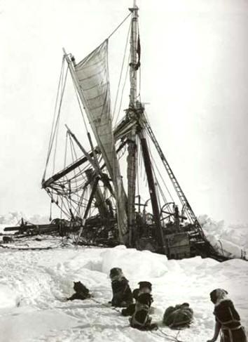 Antártida: El Endurance desapareciendo bajo los hielos del Mar de Weddell