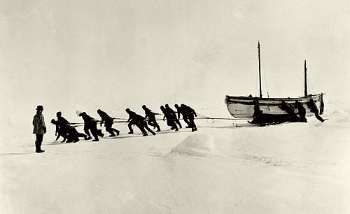 Antártida: Arrastrando el James Caird