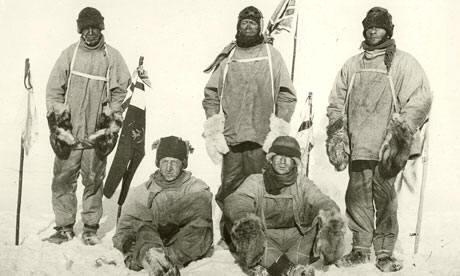 Antártida: Wilson, Evans, Scott, Oates y Bowers