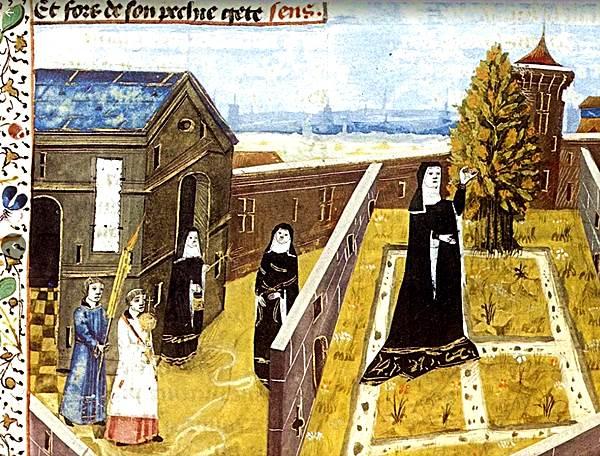 Blog Naturaleza educativa jardin_monastico_cluny HISTORIA DEL HUERTO URBANO. UNA OPCIÓN SOSTENIBLE Y DE REGRESO A LA NATURALEZA
