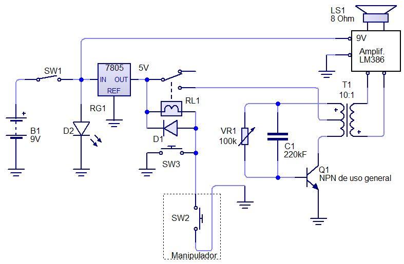 Un oscilador telegráfico para practicar el código Morse