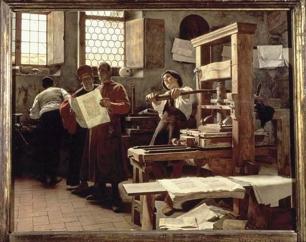 Blog Naturaleza educativa primera_imprenta De la tradición oral y Gutenberg a la imprenta digital: evolución tecnológica de la impresión