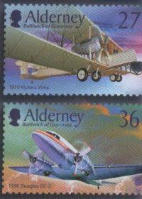 Blog Cultureduca educativa alderney_aviones2 Filatelia: Conexiones españolas con Alderney
