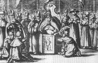 """Blog Cultureduca educativa palpacion_papa El curioso origen del verbo """"Testificar"""" y la historia de la papisa Juana"""