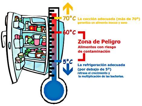 Blog Cultureduca educativa temperaturas-alimentos Manipulación de alimentos. Nociones básicas de higiene y seguridad alimentaria