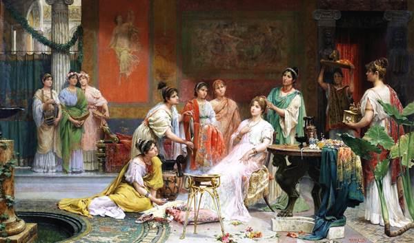 Blog Cultureduca educativa tocador_matrona_romana HISTORIA ANTROPOLÓGICA DE LA COSMÉTICA