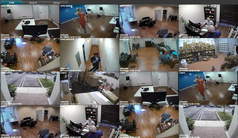 Visión simultánea de un sistema de vigilancia mediante cámaras IP
